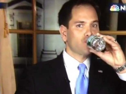 heres-marco-rubio-awkwardly-grabbing-for-a-drink-of-water-in-his-state-of-the-union-rebuttal