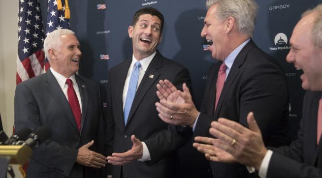 Paul Ryan, Mike Pence, Kevin McCarthy, Steve Scalise